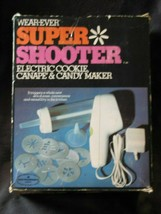 WearEver Super Shooter 70001 Electric Cookie Candy & Canape Maker COMPLETE - $44.54