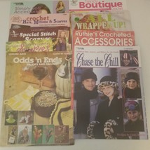 Crochet Lot of 9 Patterns Accessories Scarves Hats - $13.08