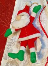 6 Vintage Christmas Ornaments Santa In Window, Tin Soldier, Straw Broom, Horns image 6