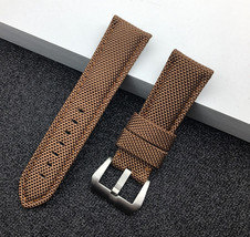 Brown Strap Bracelet FOR PAM Officine Panerai Luminor band 26mm Nylon DLC - $39.99