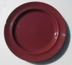 Pier 1, Burgundy China Stoneware Large Dinner Plate by Looks Like Lyn, C... - $14.99