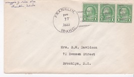 Franklin Idaho January 17 1933 On 1C Franklin Stamp Signed By Postmaster - $2.98