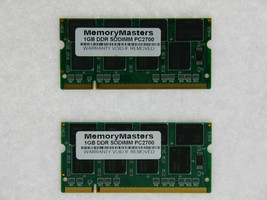 NEW 2GB 2X1GB PC2700 DDR 333mhz 200Pin Dell Latitude D400 D500 D505 D600 D800