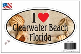 Clearwater Beach Florida Oval Bumper Sticker SS08 Wholesale - $2.99+