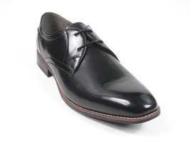 NWB $115 STEVE MADDEN BLACK LEATHER OXFORD P-MISTER LACED DRESS SHOES SI... - $39.59