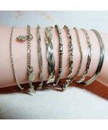 9 PC Lot Solid Sterling Silver Milor Italy Bracelets Lady Bug Flowers 30... - $49.50