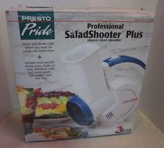 PRESTO Pride Professional Salad Shooter PLUS Electric Slicer Shredder 02974 - $34.25