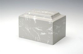 Classic Marble Silver Gray 50 Cubic Inches Cremation Urn For Ashes, TSA Approved - $94.99