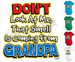 Don't l look at me Grandpa Funny baby bodysuit snapsuit One piece creepe... - $12.99