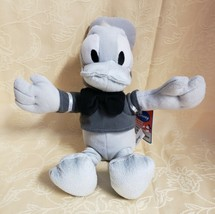 "Disney Monochrome Donald Duck 16"" Stuffed Plush New With Tags - $14.65"