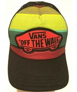 VANS Off The Wall Adult Unisex Trucker Mesh Rainbow Baseball Cap One Siz... - $24.74