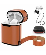 HAOZOUSA Compatible Apple Airpods Skin Leather Cover Protector, with Lea... - $17.06