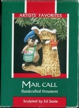 1989 Hallmark Christmas Ornament - Mail Call Raccoon Carrier Artists' Fa... - $4.94