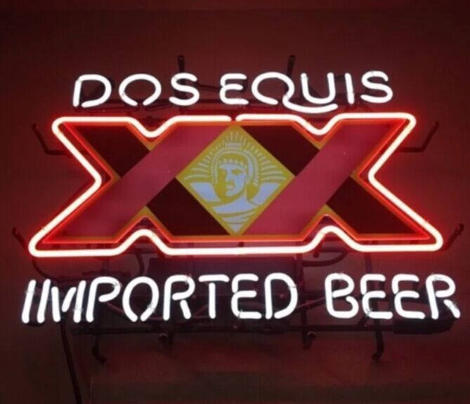 """Rare New Dos Equis XX Imported Beer Bar Shop Man Cave  Neon Sign 24""""x20"""""""