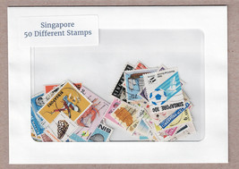 Singapore 50 Different Used Stamps Packet