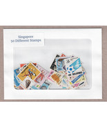 Singapore 50 Different Used Stamps Packet - $9.95