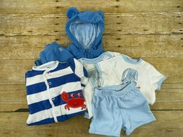 6 Pcs Lot Carter's Baby Boy Bodysuits Sweatsuit Shorts T-Shirt Newborn C... - $13.99