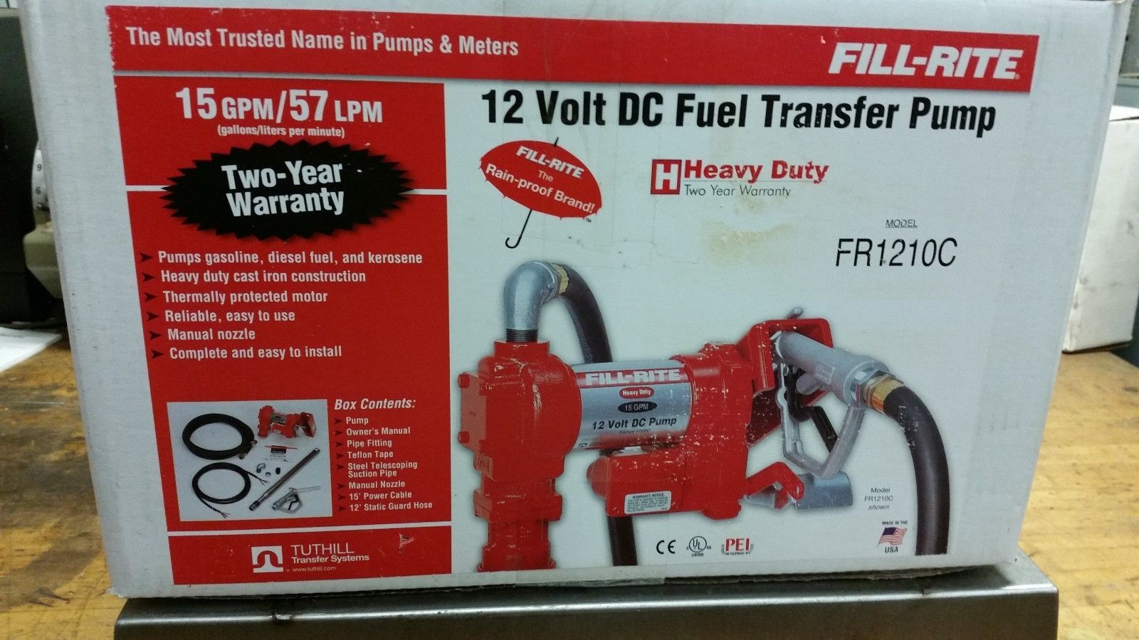 Tuthill Fill Rite 12V 15 GPM Fuel Transfer Pump FR1210C - Free Shipping
