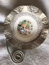 Beautiful Porcelain & Aluminum Candy Dish Made By Farber & Shlevin Inc. - $28.70