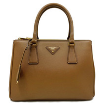 Prada 1BA863 F0401 Saffiano Lux Womens Double Zip Tote Bag Cannella Brow... - $1,349.00
