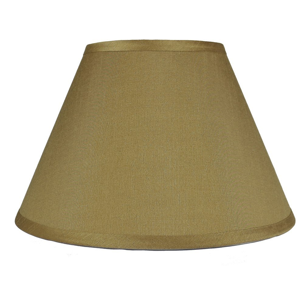 Urbanest Coolie Hardback Lampshade, Faux Silk, 7-inch by 14-inch by -9inch, Gold