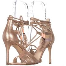 Nine West Mangalara Lace Up Dress Sandals, Light Pink, 8.5 US - $23.99
