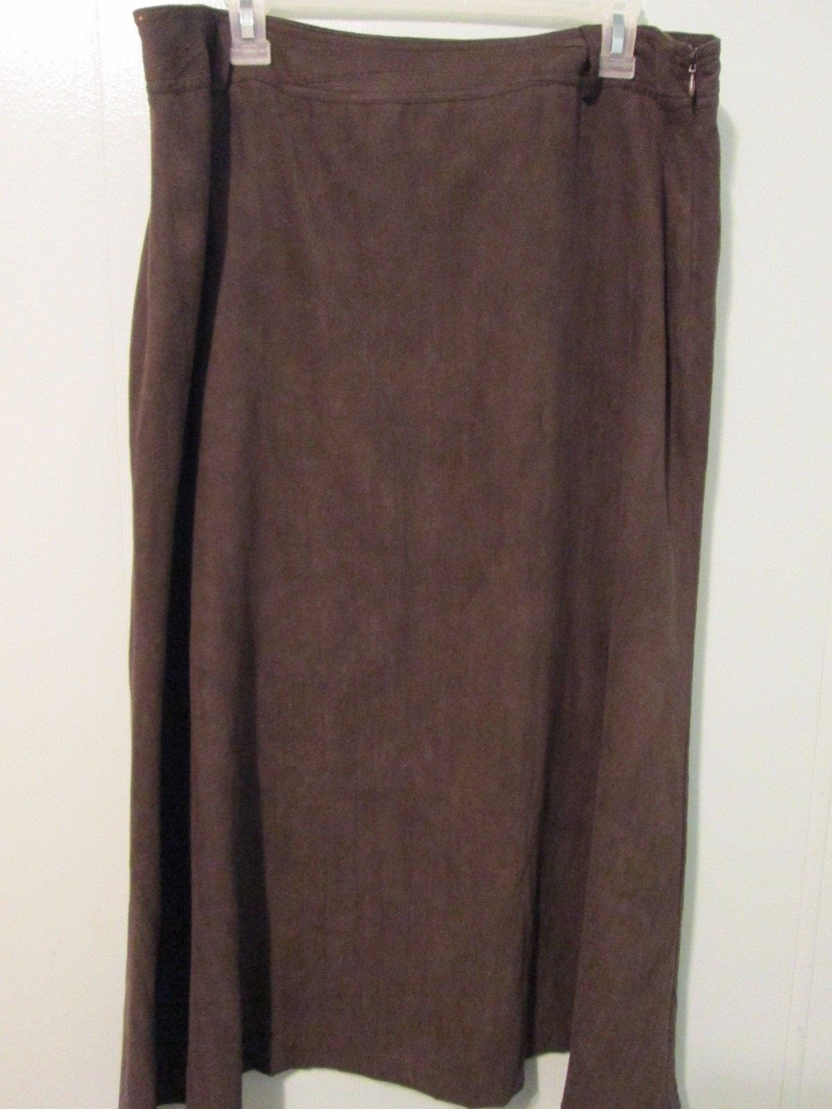 Women's brown full length skirt Size 16 by JM Collection  MKS056