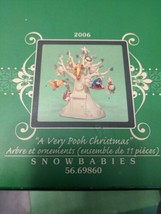 Dept 56 Snowbabies Disney A Very Pooh Christmas Tree With Ornnaments 2006 - $198.00