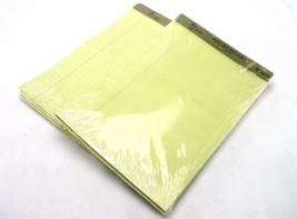 """LOT 2 ARISTOCRAT LEGAL PADS WIDE RULED CANARY 8"""" x 11-3/4"""" 3/PACK 50 SHE... - $12.48"""