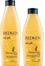 Redken Diamond Oil High Shine Shampoo 10oz and Conditioner 8oz DUO Till ... - $39.59