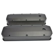 BBC Fabricated Tall Aluminum Valve Covers Big Block Chevy 396 427 454 BLACK