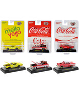 ''Coca-Cola and Mello Yello'' Set of 3 pieces 1/64 Diecast Model Cars by... - $61.28