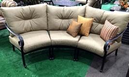 Patio Sofa Outdoor Circular bench cast Aluminum Santa Anita 3pc Seating ... - $1,645.38
