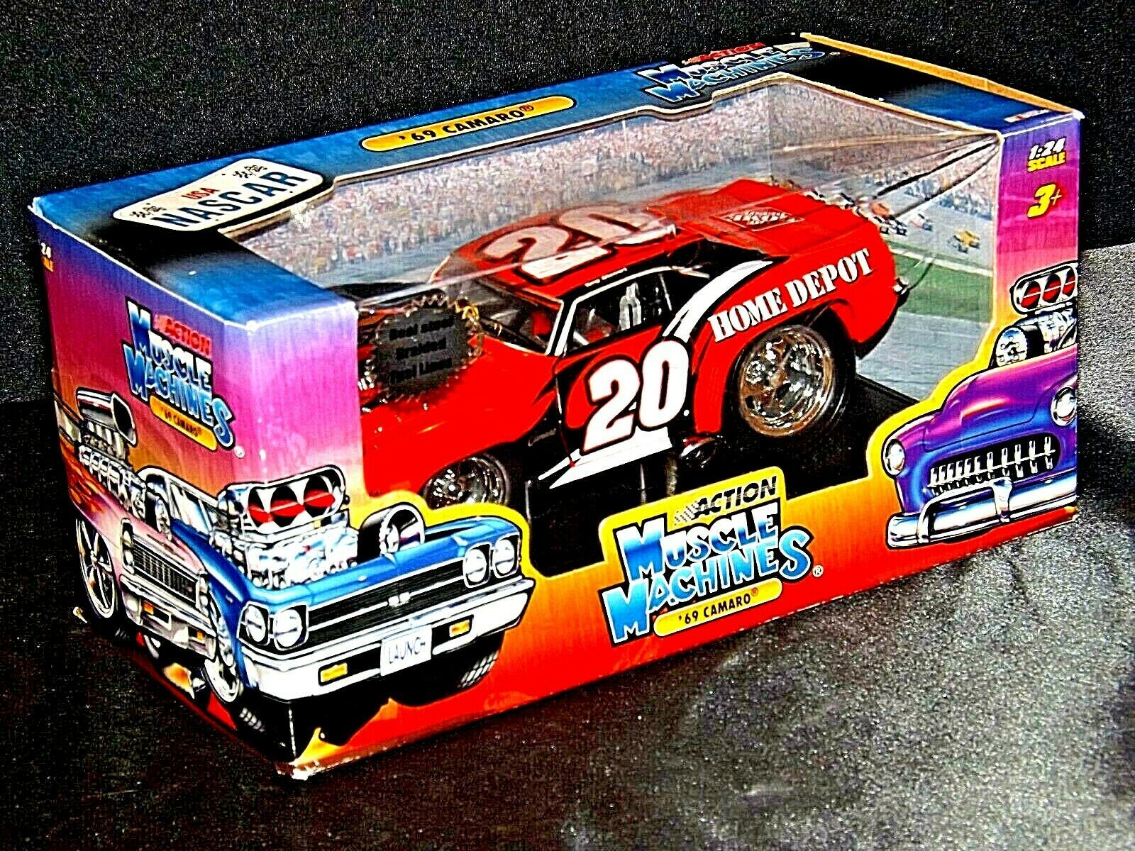 2005 NASCAR Action Camaro Muscle Machine #20 1:24 scale stock car