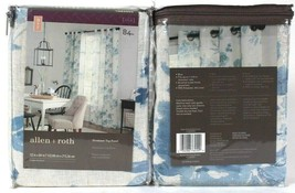 "2 Count Allen & Roth 1085005 Lyla 52"" X 84"" Blue 94% Polyester Grommet Top Panel - $41.99"