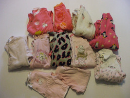 LOT 10 Girls Rompers 12 Months Cotton Blend - $19.79