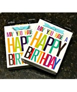 Two Give A Gift Card Holder Boxes May You Have A Happy Birthday 3.5 x 4.... - $4.94