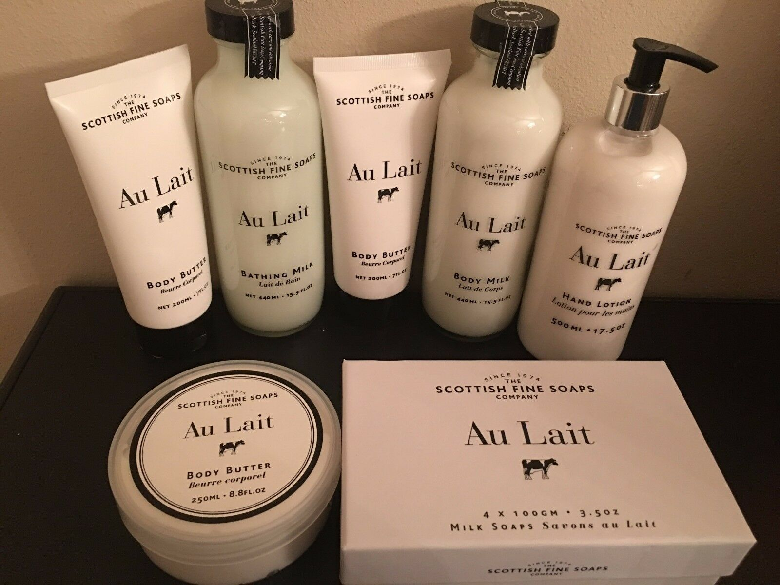 Scottish Fine Soaps Au Lait body lotion/butter/Bathing Milk/hand lotion, new image 2