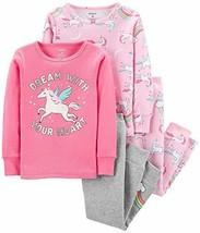 Carter's Baby Girls' 4 Pc Cotton 4T, Unicorn Dream - $33.09