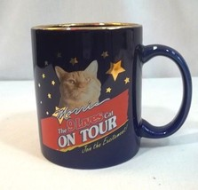 9 Lives On Tour Coffee Cup Mug Morris The Cat Blue - $10.79
