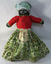 OOAK ANTIQUE Original TOPSY TURVY Rag DOLL Handmade 2 Faces Black & Whit... - $210.00