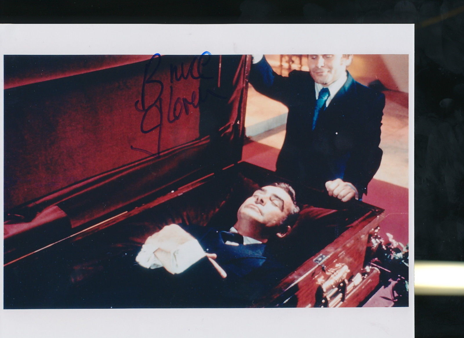"Primary image for Bruce Glover signed James Bond ""Diamonds Are Forever"" photo."