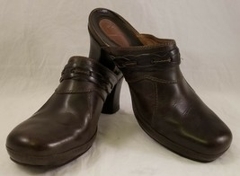 Clarks Artisan 73747 Women's Size 9M Brown Braided Leather Mule Slide Clog - $32.66