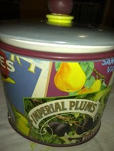 Vintage Labels Ceramic Cookie Jar Sukura NY - $14.94