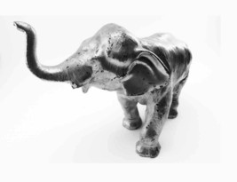 Large Full Cast Iron Metal Elephant Figure Metalware Early Antique Origi... - $130.00
