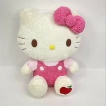 Hello Kitty Sanrio Plush Pink Bow Apple Foot Terry Cloth Stuffed Animal ... - $29.69