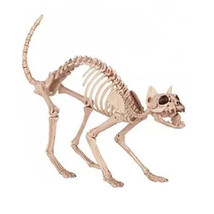 Skeleton Cat Plastic Halloween Prop Morris Costumes Small Decorations Pr... - $51.27