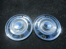 Lot of 2 genuine 1959 Chrysler New Yorker 14 inch hubcaps wheel covers - $41.73