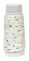 Cosmo Hidamari Sashiko Variegated Thread 30 Meters Shaved Ice Blue Yellow - $5.95