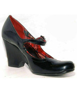 Black Patent Leather Style & Co Mary Jane Wedge pumps Cross ankle Size 7M (1692) - $4.99